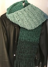 BoHo Patchwork Green-Blue-Teal Scarf for Adults